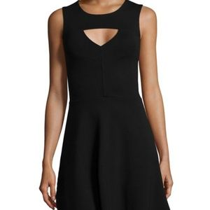 Nwt french connection cutout fit and flare black